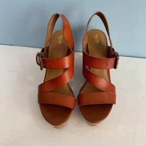 Mossimo Cognac Wedge Sandal Size 10